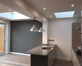 kitchen with roof lanterns