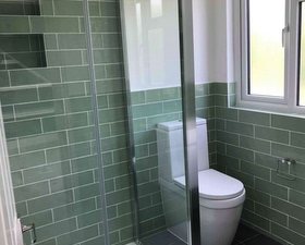 Shower and toilet conversion